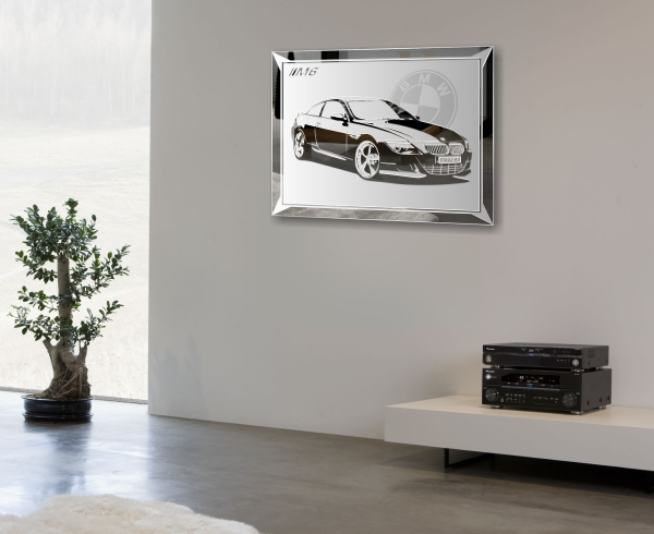 bmw m6 spiegel bildspiegel motiv auto poster bild tuning. Black Bedroom Furniture Sets. Home Design Ideas