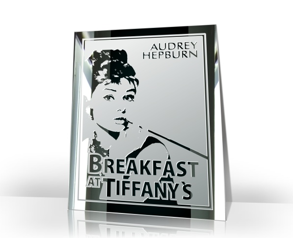 audrey hepburn bild motiv wandbild motivspiegel dvd fr hst ck bei tiffany film ebay. Black Bedroom Furniture Sets. Home Design Ideas