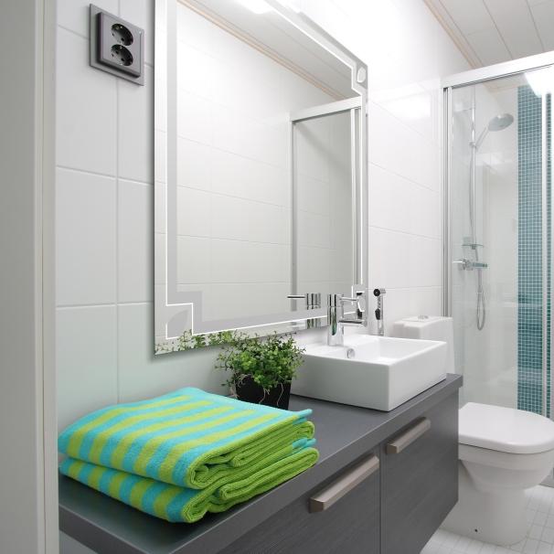 Moderner wandspiegel badezimmerspiegel bad spiegel ebay - Badezimmerspiegel modern ...