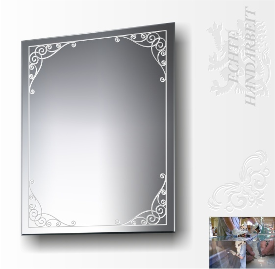 ornamente spiegel bilder rahmen alt glas m bel bad deko ebay. Black Bedroom Furniture Sets. Home Design Ideas